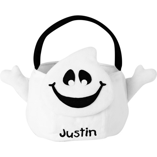 Personalized Plush Halloween Trick or Treat Bag, Ghost
