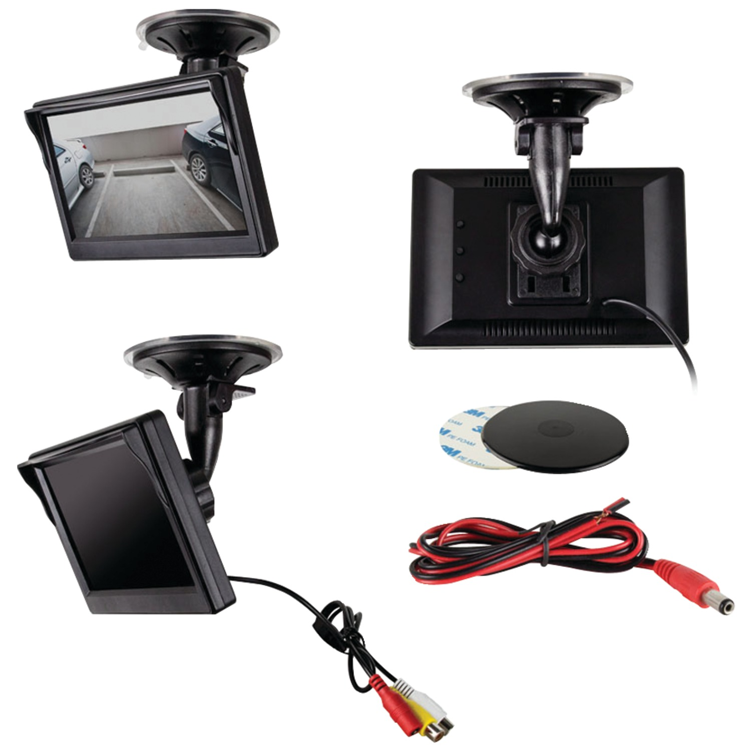 "Ibeam Vehicle Safety Systems TE-50VS Color Video Monitor With 2 Inputs (5"")"