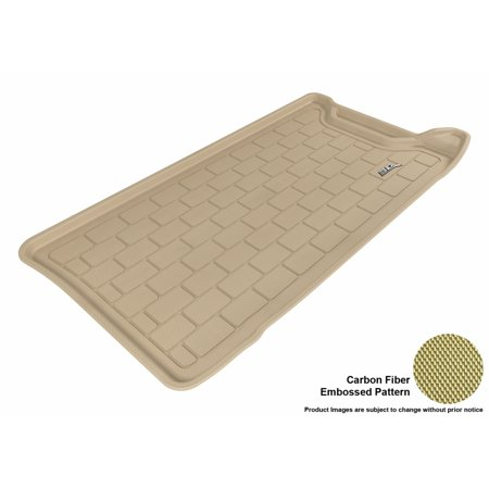 500 Carbon Fiber - 3D MAXpider 2012-2017 Fiat 500 All Weather Cargo Liner in Tan with Carbon Fiber Look