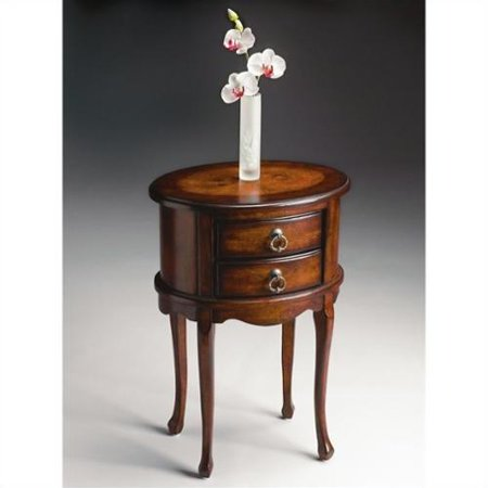 Butler Specialty Oval Side Table in Plantation Cherry Finish