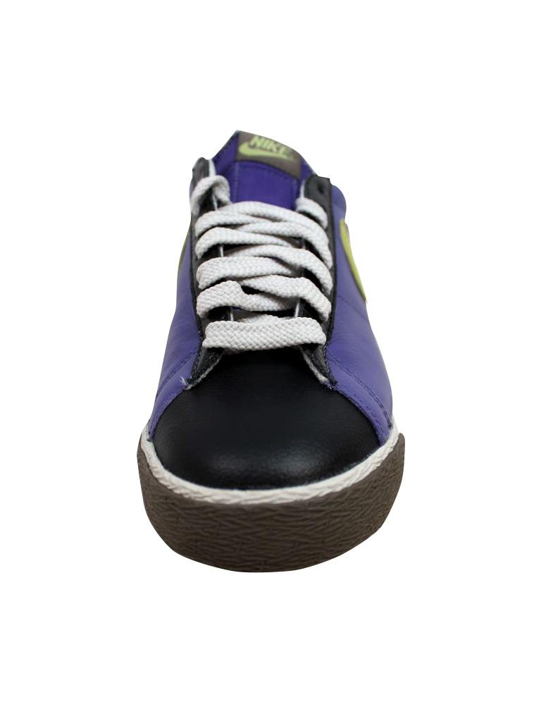 Nike Men's Blazer Low Classic Varsity Purple/Lime-Black-Light Bone 317552-531