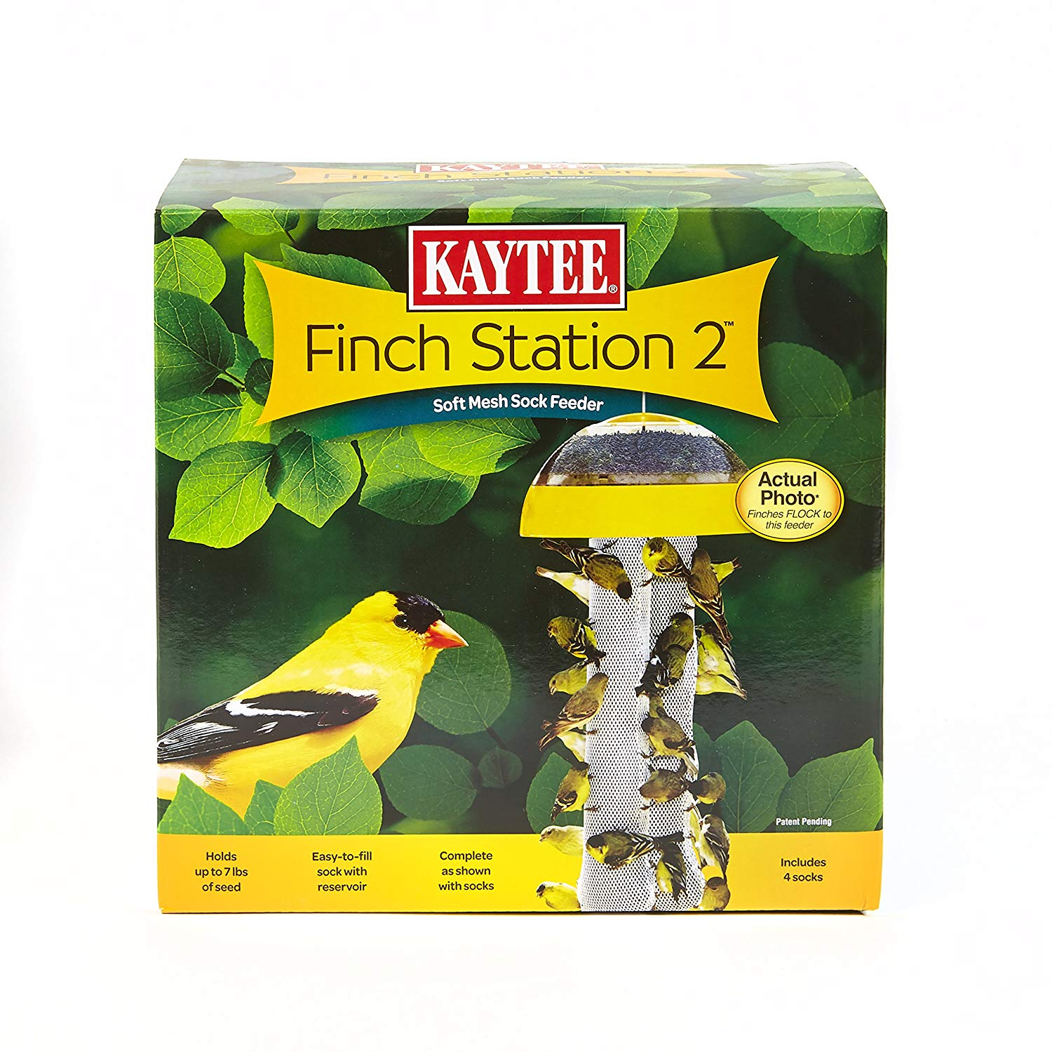 Finch Feeder, Kaycee Finch Station 2 A soft, pliable mesh feeder that holds more than 7 pounds of food By Kaytee