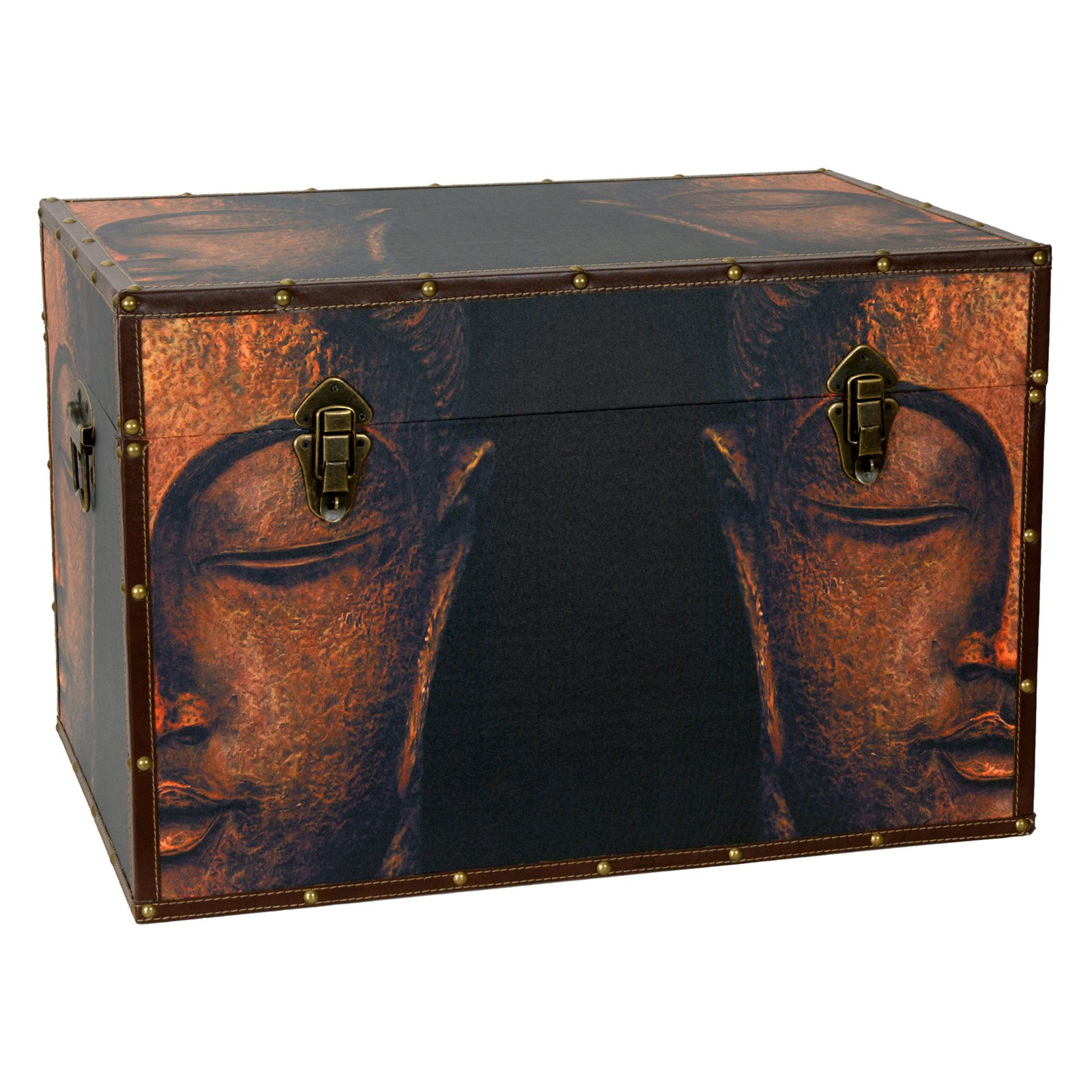Oriental Furniture Buddha Storage Trunk