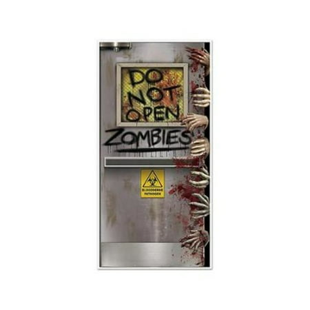 Zombies Lab Door Cover Halloween Decoration for $<!---->
