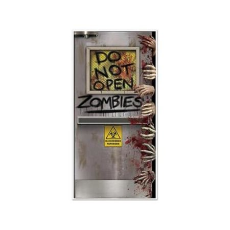 Zombies Lab Door Cover Halloween Decoration