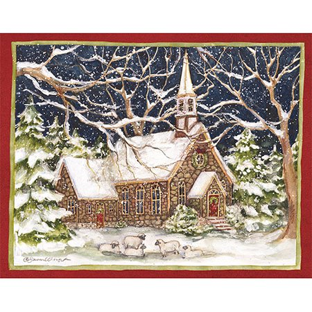 lang stone church boxed christmas cards