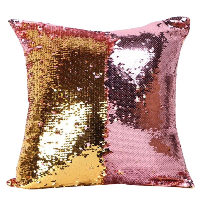 ENJOY Decorative Cushion Covers Mermaid Pillow Case Cover Reversible Throw Pillow Pillowcases For Sofa Home Decor 8 Colors