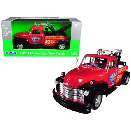- 1953 Chevrolet Tow Truck Red 1-24 Diecast Model Car by Welly