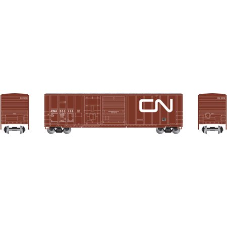 Athearn 87190 Ho Canadian National 50 Fmc Combo Door Box Car  553736