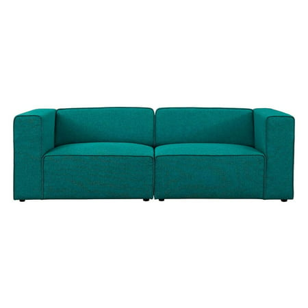 Modway Mingle 2 Piece Upholstered Fabric Sectional Sofa Set, Multiple Colors ()