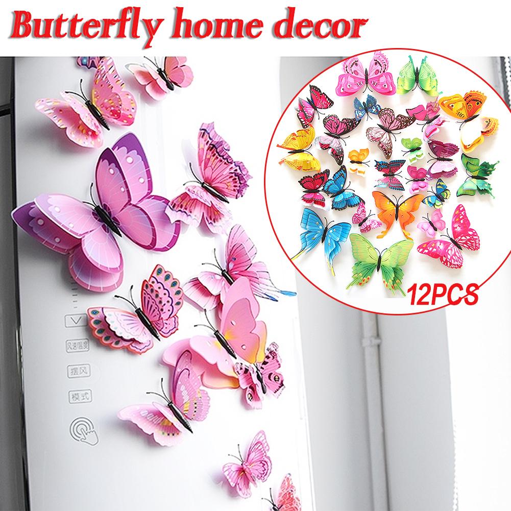 Aimant de r/éfrig/érateur Motif papillon aux couleurs du Br/ésil
