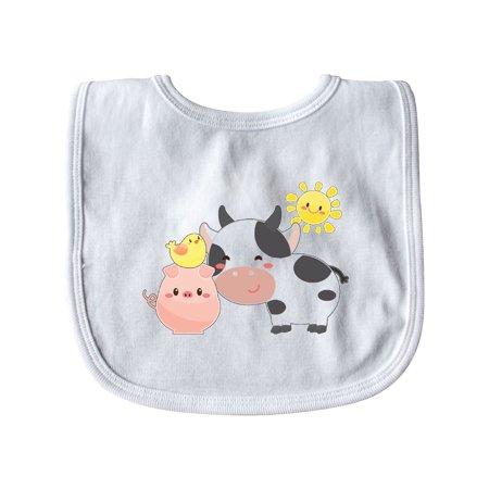 Fun Farm Animals- cow, pig, chick Baby Bib