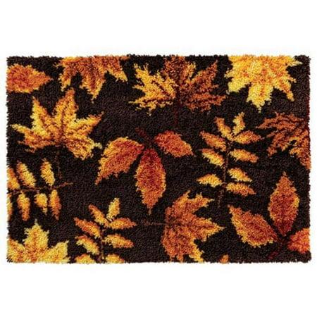 Craftways Autumn Leaves Latch Hook Kit Walmart Com