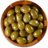 Deli Fresh Large Green Cracked Olives, 16oz Dr.Wt.