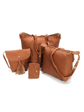 07f8da822d5c Product Image 4pcs Women PU Leather Handbag Shoulder Bag Tote Purse  Messenger Satchel Clutch