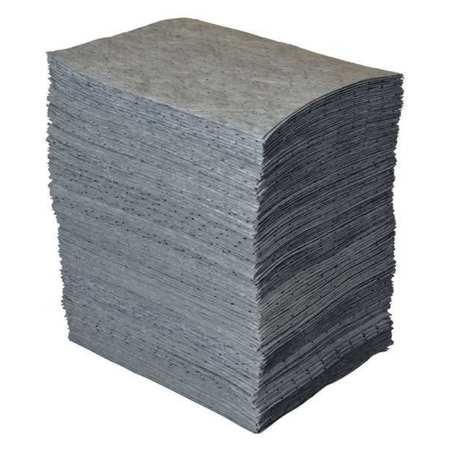 BRADY SPC ABSORBENTS Absorbent Pad,Universal,Gray,PK100 GP500
