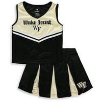 Wake Forest Demon Deacons Colosseum Youth Girls Pom Pom Cheer Set - Black