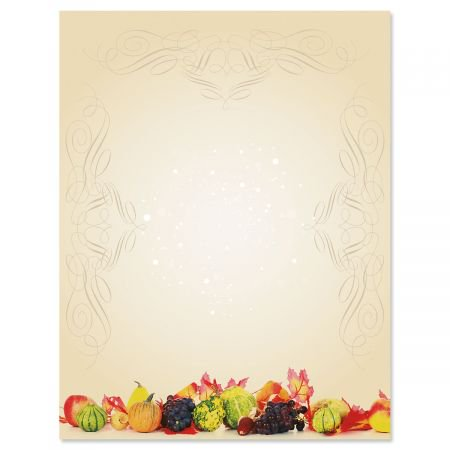 Classic Harvest Halloween Letter Papers - Fall letter papers are 8-1/2
