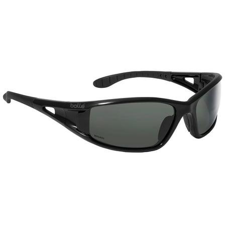 e9d40b84bbfc Boll   - Bolle Lowrider Safety Glasses with Shiny Black Frame and Polarized  Smoke Anti-Sc - Walmart.com