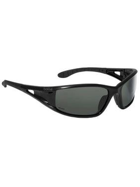 cbcda98332ef7 Product Image Bolle Lowrider Safety Glasses with Shiny Black Frame and  Polarized Smoke Anti-Sc
