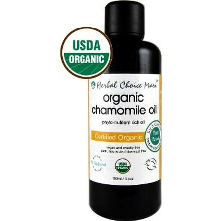 Herbal Choice Mari Organic Chamomile Oil, 3.4 Oz (Herbal Aromatherapy)