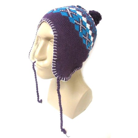 9249853ecff1a 1 Peruvian Winter Ear Flap Muff Ski Hat Skully Beanie Cap Snow Mens Women  Unisex - Walmart.com