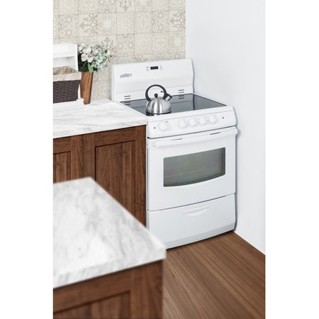 "Summit Appliance Summit 24"" Free-standing Smooth-Top Electric Range"