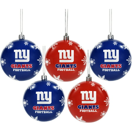 Forever Collectibles 2016 NFL Pack Shatterproof Ball Ornaments, New York Giants ()