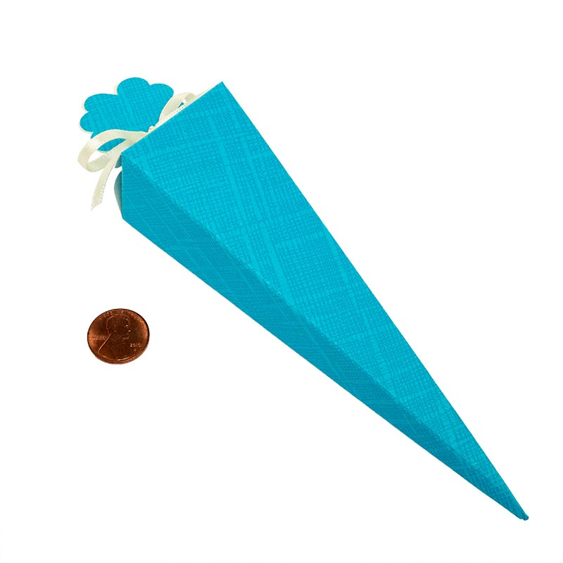 """20ea - 6"""" Blue Cone Favor Box - 9 mil Thick by Paper Mart"""