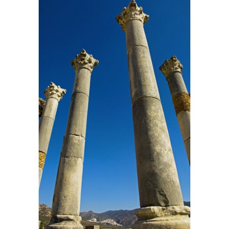 Column In Capitol In Ancient Roman City Stretched Canvas - Chris Parker  Design Pics (12 x 19)](Roman Colums)
