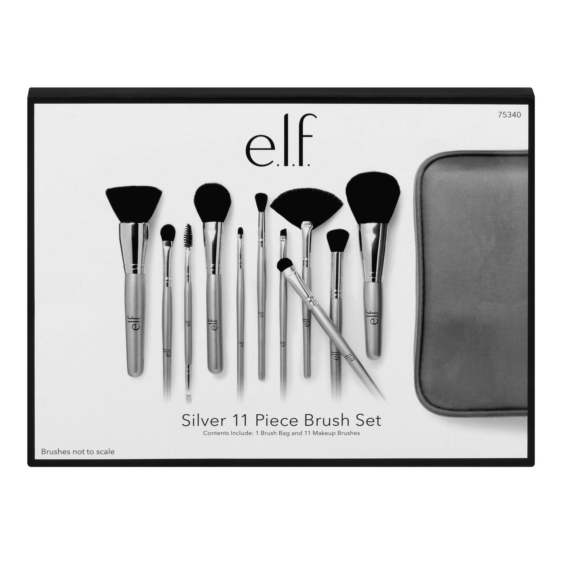 e.l.f. Silver 11 Piece Brush Collection
