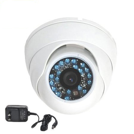 VideoSecu Infrared Day Night Vision Outdoor Vandal-proof Security Camera Wide Angle 1/3 inch CCD with Power Supply C9V