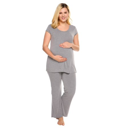 0b0cce4d9f Ekouaer - Women Casual O-Neck Short Sleeve Soft Maternity Nursing Pajamas  Pants Set Pjs Sets Sleepwear Lounge Wear Soft - Walmart.com