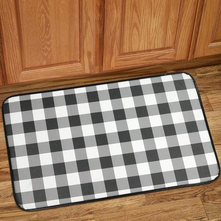 Buffalo Check Printed Anti-Fatigue Kitchen Floor Rug Mat 18 ...