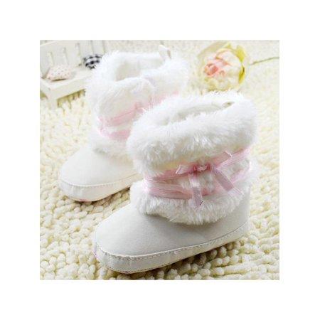 0-18M Newborn Infant Baby Warm Fluffy Soft Sole Crib Shoes Anti-slip - Fluffy Rave Boots