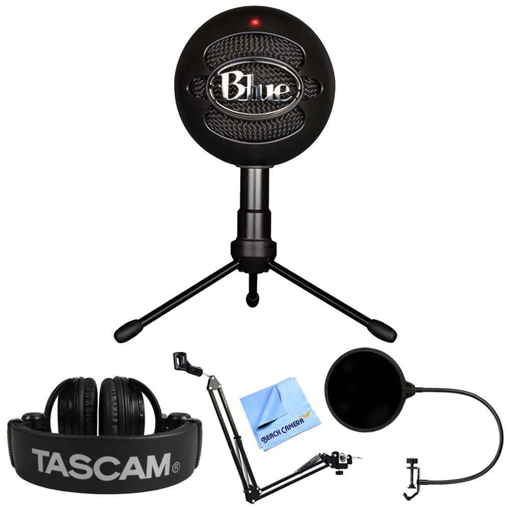 Blue Microphones Snowball iCE Versatile USB Microphone Black (SNOWBALL iCE Black) + Tascam... by Blue Microphones