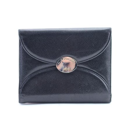 Compact Square Flap Wallet 10mr0213 Black Leather