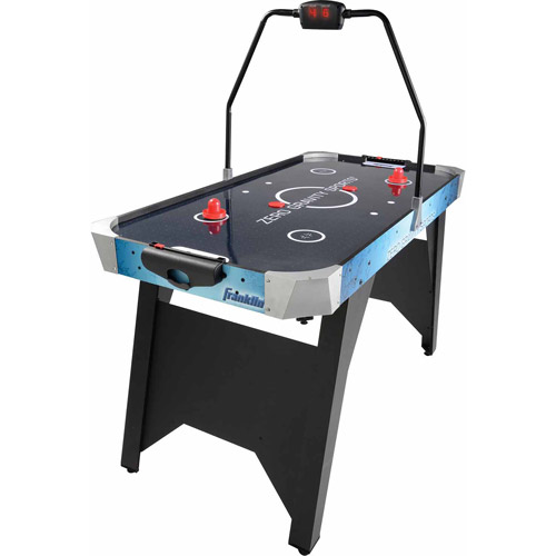 "Franklin Sports Arcade Air Hockey Table with LED Scoring, 54"" x 27"" x 30"""