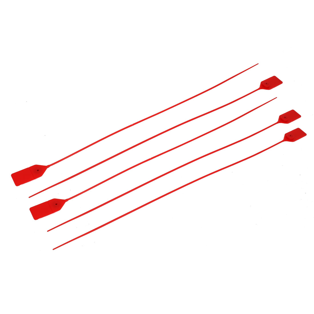 5pcs 500mm Length Plastic 30mmx23mm Label Marker Cable Tie Strap Zip Red - image 4 de 4