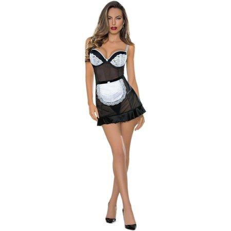 Large Lingerie (Escante EL-36529 - Sexy Maid Large / Black )