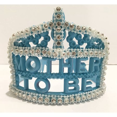 Mom To Be Tiara, Blue Plastic Tiara Mommy To Be Head Piece Gift Idea (Mommy To Be Tiara)