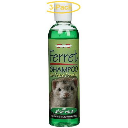 Marshall Ferret Shampoo - No Tears Formula with Aloe Vera 8 oz - Pack of 3