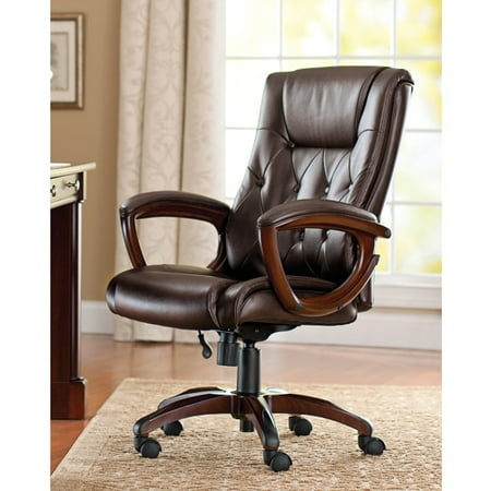 Admirable Better Homes And Gardens Bonded Leather Executive Office Chair Interior Design Ideas Inesswwsoteloinfo