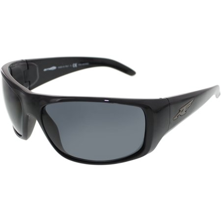 Arnette Men's Polarized La Pistola AN4179-41/81-66 Black Wrap Sunglasses Black Headset Sunglasses