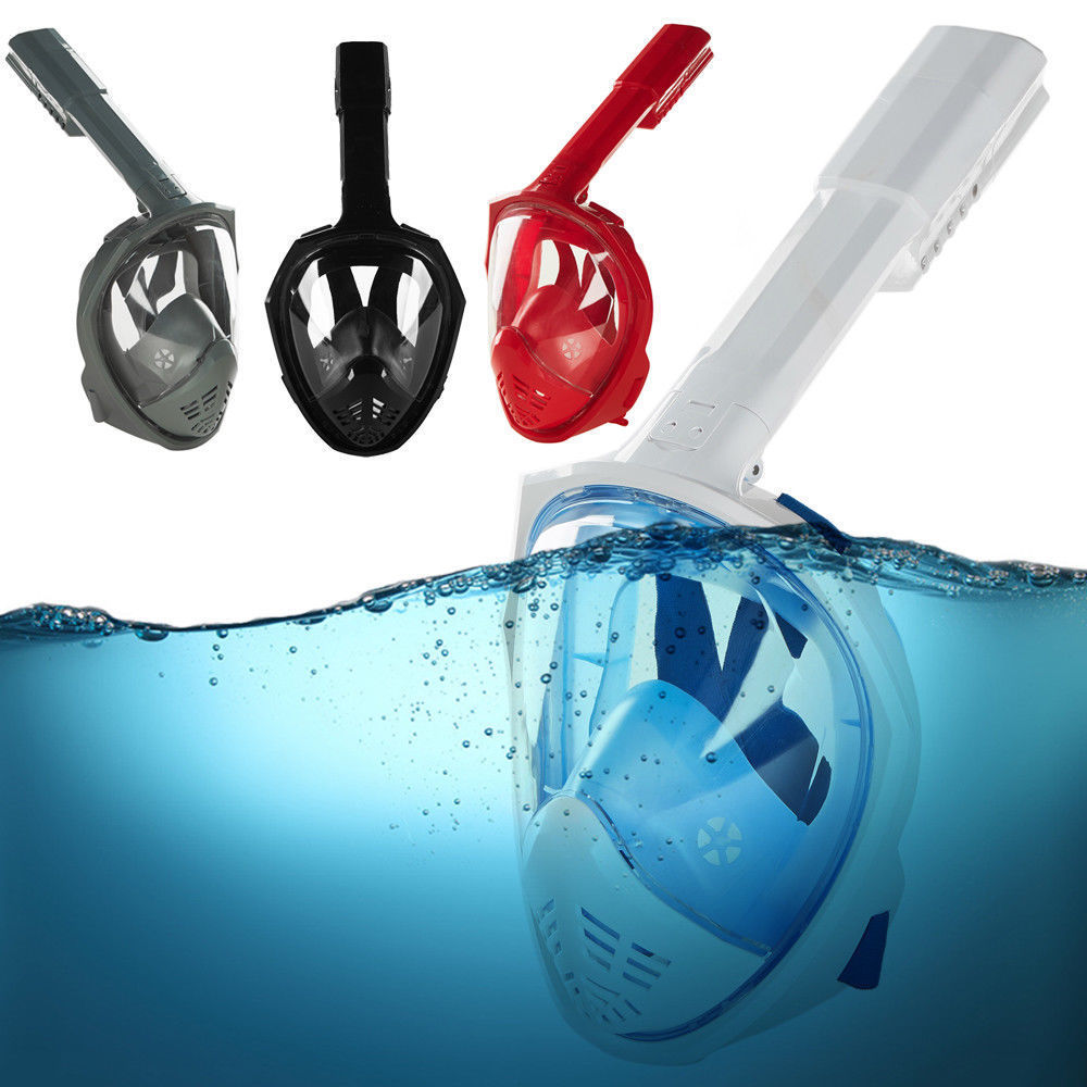 3rd Version Upgrade Swimming Full Face Mask Anti-Fog Surface Diving Snorkel Scuba for GoPro by Cheerwing