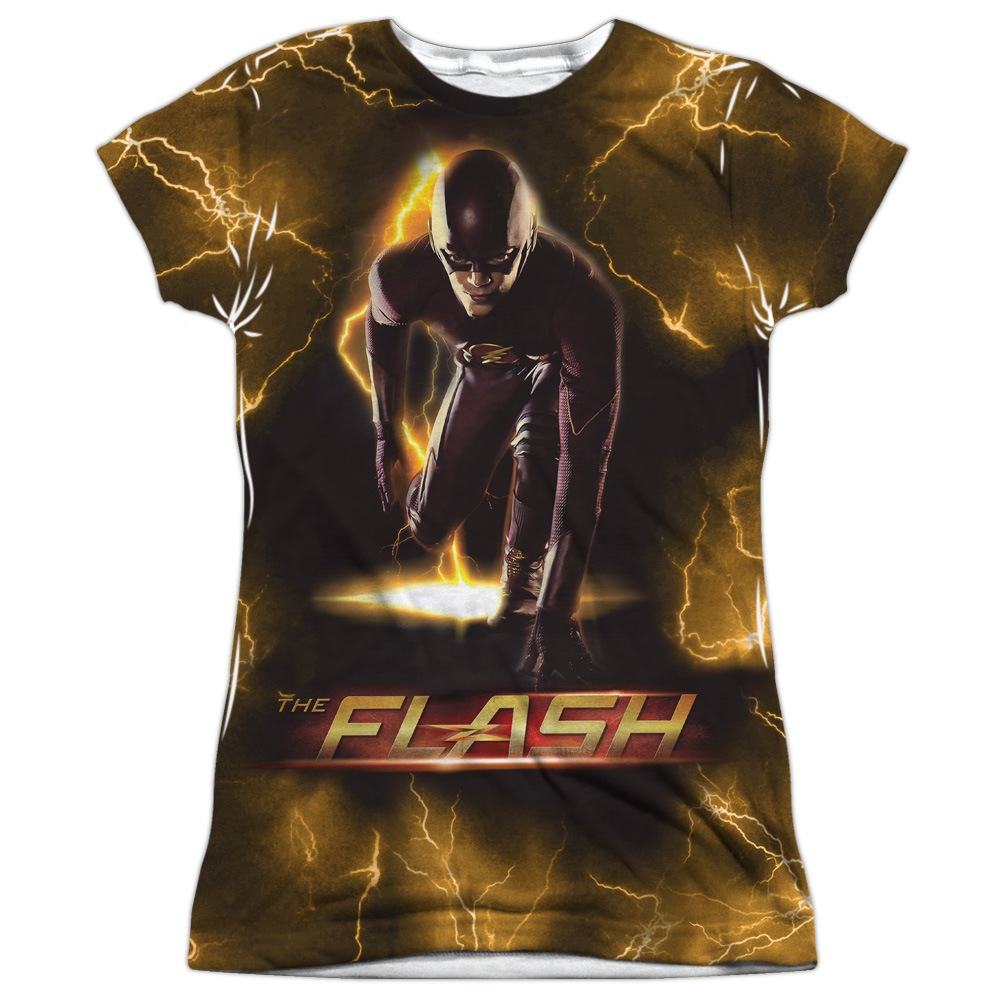 The Flash Bolt (Front Back Print) Juniors Sublimation Shirt