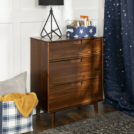 - Manor Park Mid-Century Modern 3-Drawer Wood Dresser - Walnut