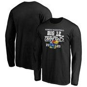 Kansas Jayhawks Fanatics Branded 2020 Big 12 Men's Basketball Regular Season Champions Long Sleeve T-Shirt - Black