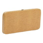 Lizard Grain Calf Framed Flat Wallet