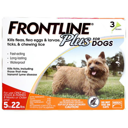 Frontline Plus for Dogs - Puppies to 22 Pounds, 3 month Supply